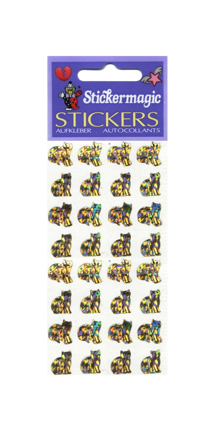 Pack of Prismatic Stickers - Micro Gold Cats