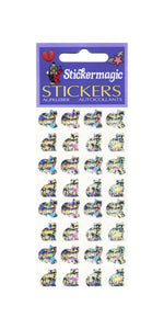 Pack of Prismatic Stickers - Micro Silver Cats