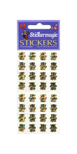 Pack of Prismatic Stickers - Micro Gold Teddies