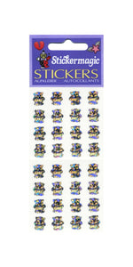 Pack of Sparkly Prismatic Stickers - 16 Teddy Bears
