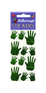 Pack of Prismatic Stickers - Green Hands