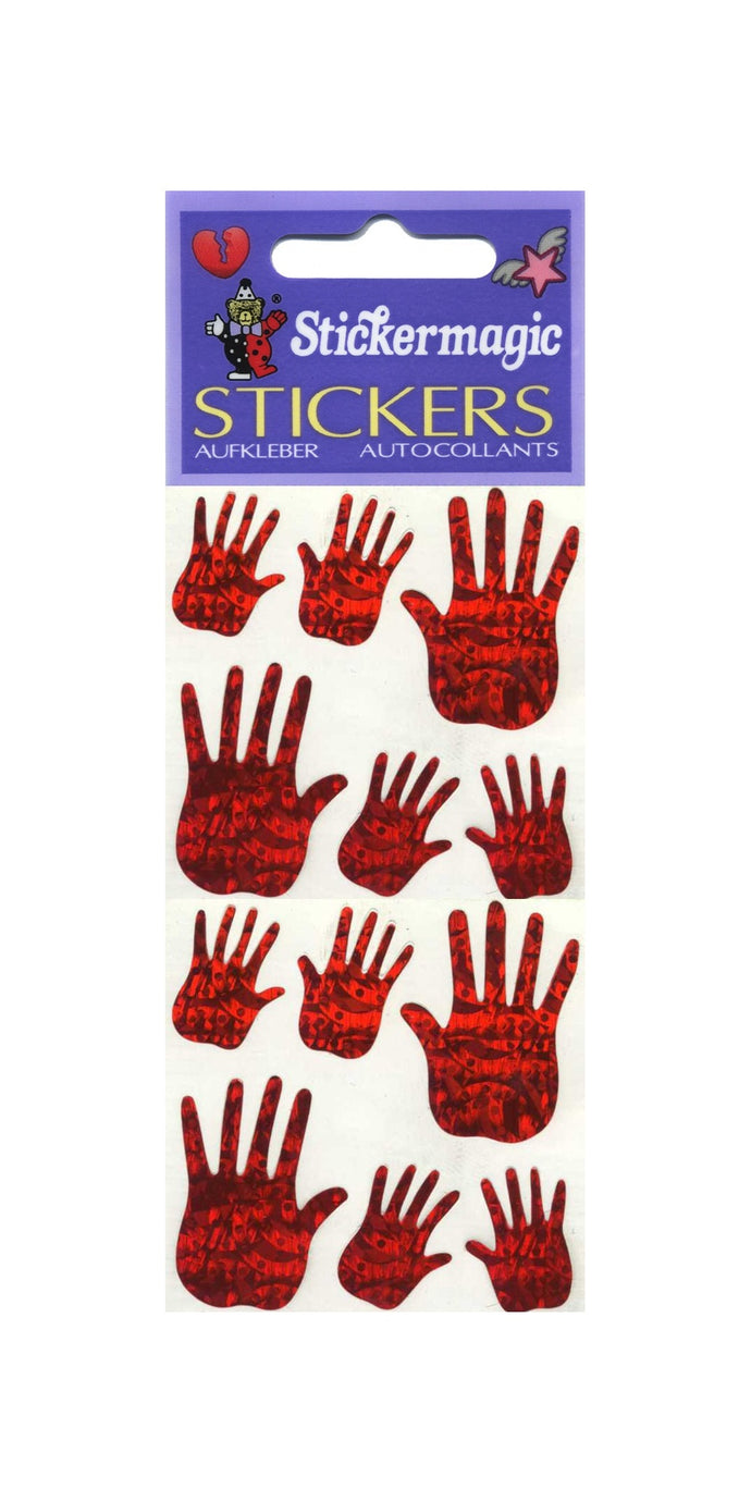 Pack of Prismatic Stickers - Red Hands