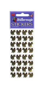 Pack of Prismatic Stickers - Ponies - Gold