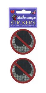 Pack of Prohibitive Prismatic Stickers - No Farting