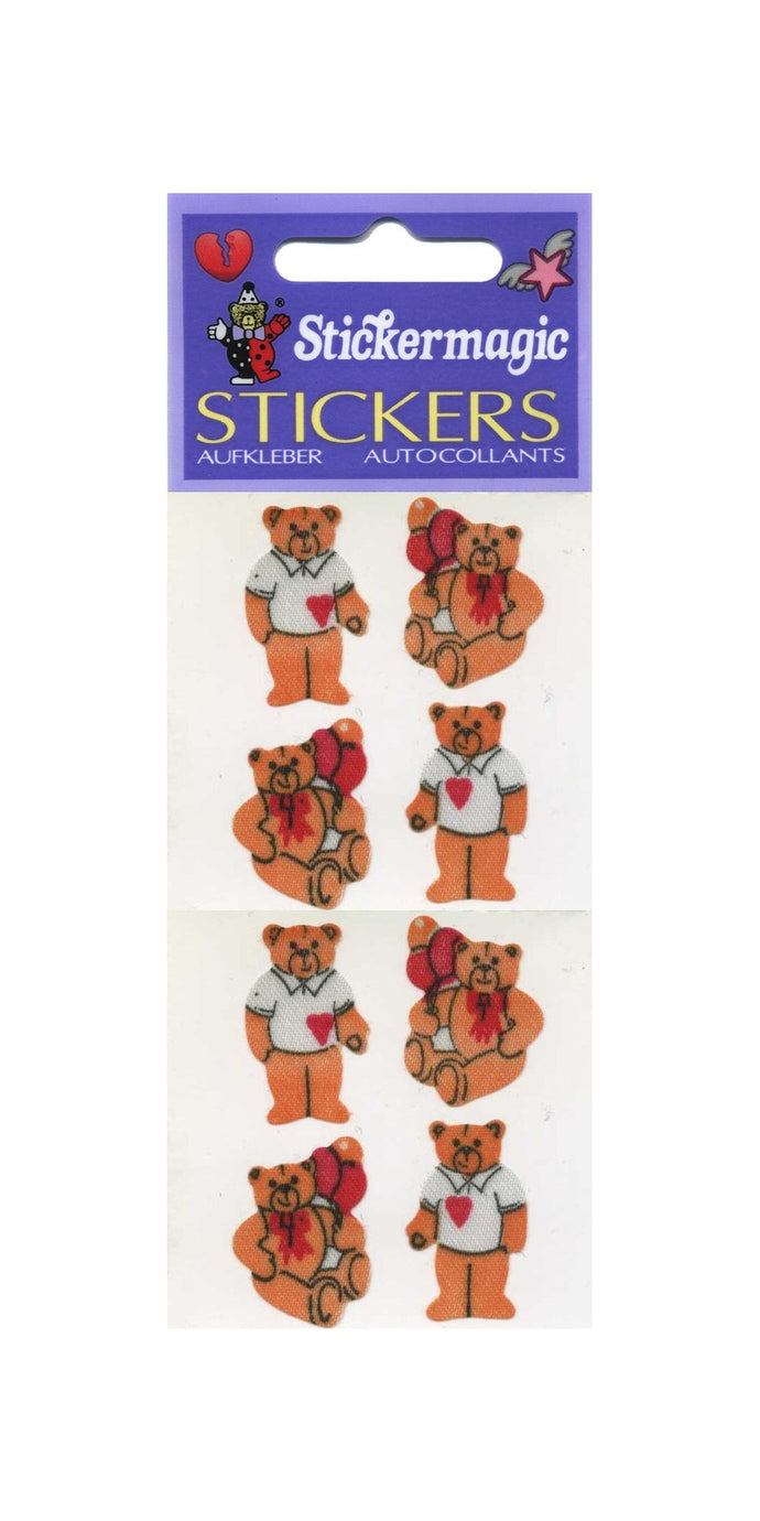 Pack of Silkie Stickers - Teddies In T-Shirts