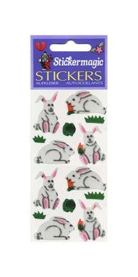 Pack of Silkie Stickers - Bunny & Carrot