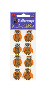 Pack of Silkie Stickers - Mother & Baby Owl