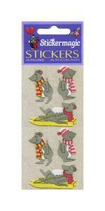 Pack of Furrie Stickers - Winter Mice