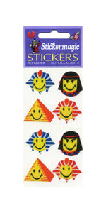 Pack of Silkie Stickers - Egyptian Smiley Faces