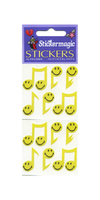 Pack of Silkie Stickers - Smiley Musical Notes