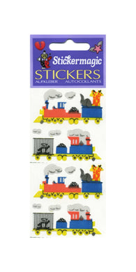 Pack of Silkie Stickers - Animal Train