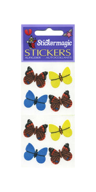 Pack of Silkie Stickers - Multi Coloured Butterflies