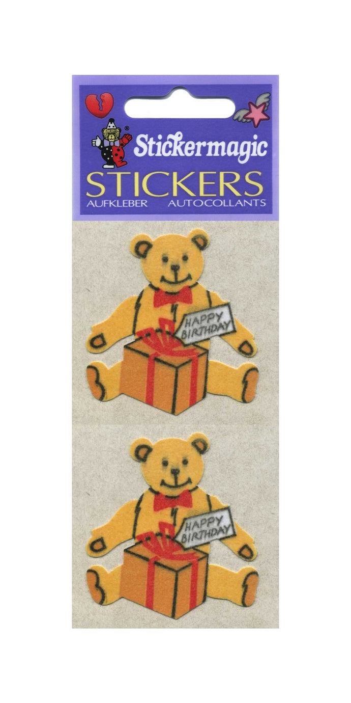 Pack of Furrie Stickers - Birthday Bear