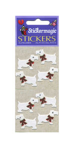 Pack of Furrie Stickers - White Scottie Dogs