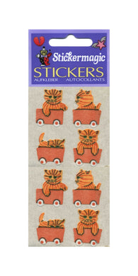 Pack of Furrie Stickers - Kittens In Train