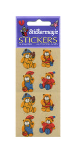 Pack of Furrie Stickers - 4 Seasons Teddies