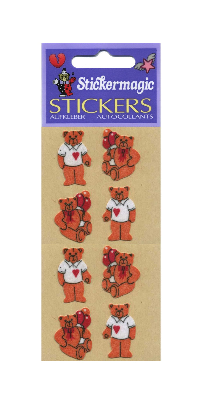 Pack of Furrie Stickers - Teddies In T-Shirts