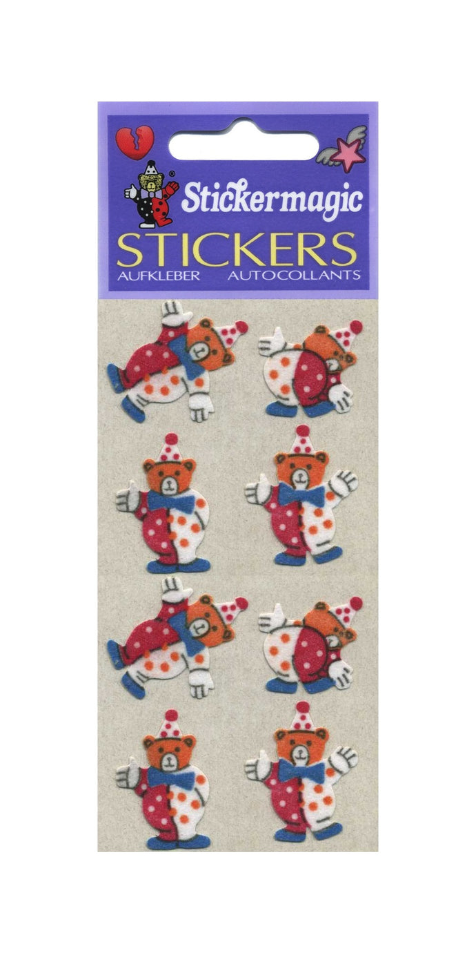 Pack of Furrie Stickers - Teddy Clowns