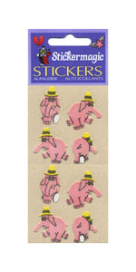 Pack of Furrie Stickers - Party Elephants