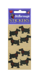 Pack of Furrie Stickers - Black Scotties