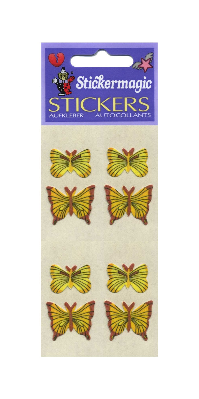 Pack of Furrie Stickers - Yellow Butterflies