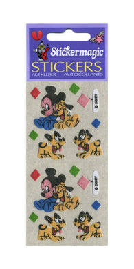 Pack of Furrie Stickers - Mickey and Pluto