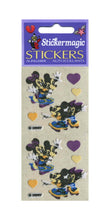 Load image into Gallery viewer, Pack of Furrie Stickers - Mickey and Minnie on Skateboards