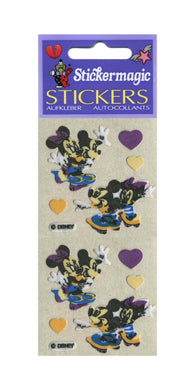 Pack of Furrie Stickers - Mickey and Minnie on Skateboards