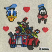 Load image into Gallery viewer, Pack of Furrie Stickers - Mickey and Friends in Car