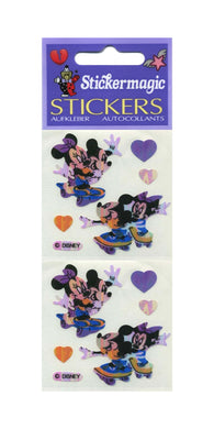 Pack of Pearlie Stickers - Mickey and Minnie on Skateboards