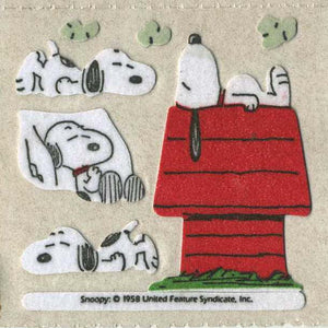 Pack of Furrie Stickers - Snoopy on Kennel