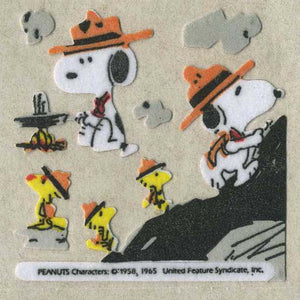 Pack of Furrie Stickers - Snoopy and Woodstock Camping