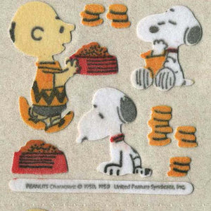 Pack of Furrie Stickers - Charlie Brown and Snoopy