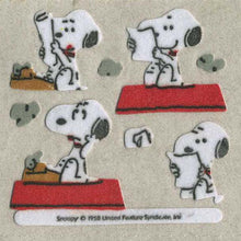 Load image into Gallery viewer, Pack of Furrie Stickers - Snoopy and Typewriter