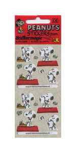 Pack of Furrie Stickers - Snoopy and Typewriter