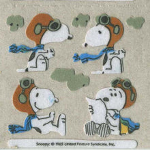 Load image into Gallery viewer, Pack of Furrie Stickers - Snoopy in Flying Gear