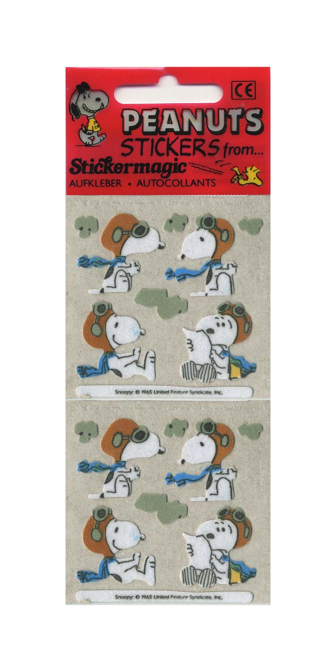 Pack of Furrie Stickers - Snoopy in Flying Gear