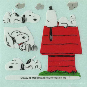 Pack of Paper Stickers - Snoopy on Kennel