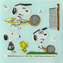 Load image into Gallery viewer, Pack of Paper Stickers - Snoopy Playing Tennis
