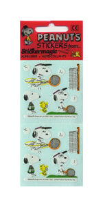 Pack of Paper Stickers - Snoopy Playing Tennis