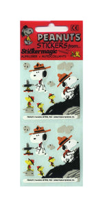 Pack of Paper Stickers - Snoopy and Woodstock Camping