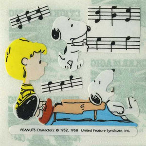 Pack of Paper Stickers - Snoopy with Schroeder and Piano