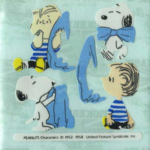 Pack of Paper Stickers - Snoopy with Linus and Blanket