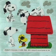 Load image into Gallery viewer, Pack of Paper Stickers - Joe Cool Snoopy