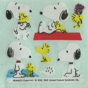 Pack of Paper Stickers - Snoopy and Woodstock