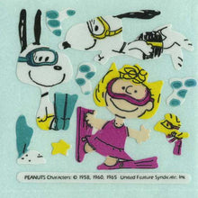 Load image into Gallery viewer, Pack of Paper Stickers - Snoopy and Sally Diving