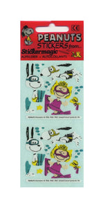 Pack of Paper Stickers - Snoopy and Sally Diving