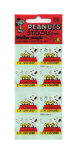 Pack of Paper Stickers - Snoopy I'm Confused