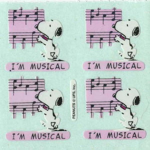 Pack of Paper Stickers - Snoopy I'm Musical