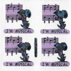 Pack of Prismatic Stickers - Snoopy I'm Musical